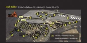 Tough Mudder Englishtown NJ Course Map Logo attached