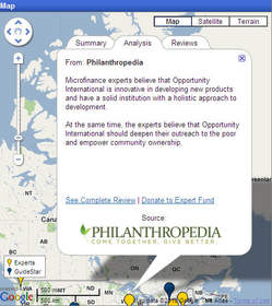 Summary of information about Opportunity International available on GuideStar