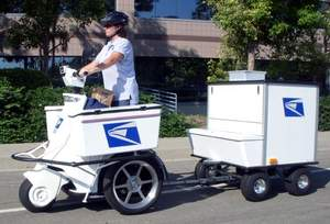 United State Postal Service clean energy zero gas emissions