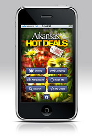 The Arkansas Hot Deals application offers discount travel offers and information.