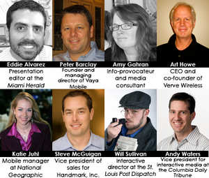Speakers for the Going Mobile Journalism Forum