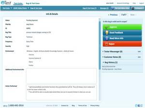 Bug Information & Details - uTest v3.0