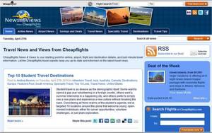 Cheapflights.com's blog post on Top 10 Student Travel Destinations around the world.