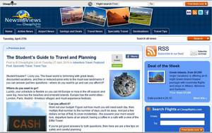 Cheapflights.com's blog post on The Student's Guide to Travel and Planning.