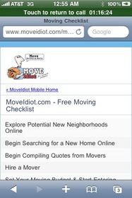 Free Moving Checklist, Available on Mobile Phones