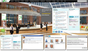InXpo Social Suite placed within a virtual environment.