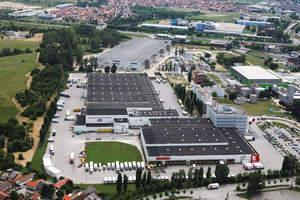 aerial photo of Konzum office and logistics facilities, Zagreb, Croatia