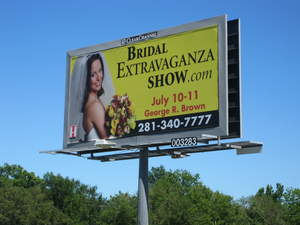 Houston's new Billboard Bride appears citywide to promote the July 10-11 event.