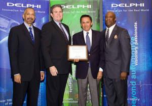 Ryder receives Delphi Above & Beyond award for logistics services.