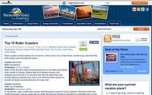 Cheapflights.com's list of Top 10 Roller Coasters