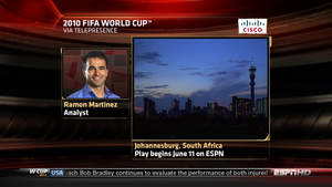 ESPN to Utilize Cisco TelePresence at the 2010 FIFA World Cup