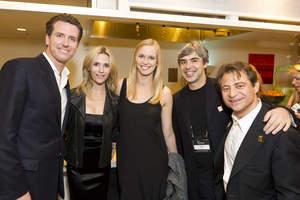 The Honorable Gavin Newsom, Jennifer Siebel Newsom, Lucy Southworth, Larry Page & Peter Diamandis