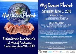 My Ocean Planet fundraiser