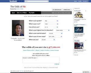 the odds of me facebook app