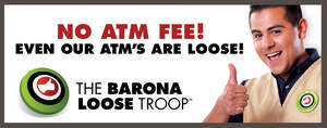 Guests can save $4 on every ATM withdrawal this June and July at Barona Resort & Casino