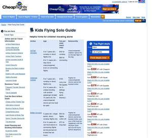 Cheapflights.com's Kids Flying Solo Guide