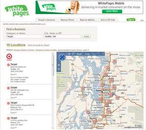 WhitePages Store Locator