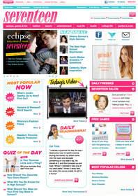 Seventeen.com Homepage