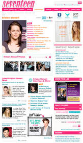 Seventeen.com Celebrity Page