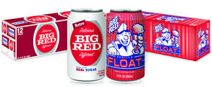Retro Big Red and Big Red Vanilla Float 12 pack 12-ounce cans