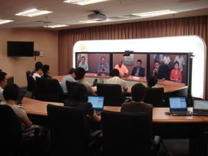 The press in Beijing listen on attentively.