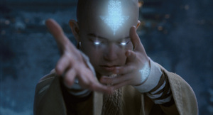 Photo credit: Industrial Light & Magic  Noah Ringer is the heroic Aang in the Paramount Pictures/Nickelodeon Movies adventure, 'The Last Airbender.'  Copyright (C) 2010 Paramount Pictures Corporation. All Rights Reserved.