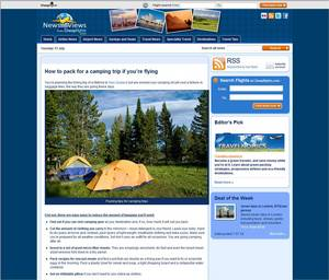 Cheapflights.com Guide on 'How to Pack for a Camping Trip if You're Flying'