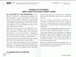 Blumberg Publishes Revised New York Power of Attorney Forms