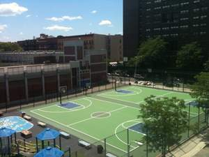 Rebound Ace Grand Slam with Nike Grind basketball courts in New York City.
