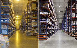 Digital Lumens Intelligent Lighting System compared to original lighting