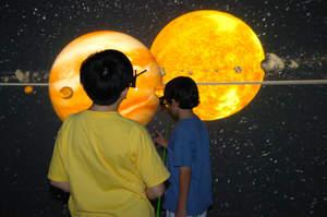 interactive 3D, cave, icube, solar system, JTM Concepts