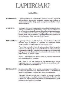 Laphroaig Fact Sheet