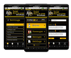 The TextKills.com DriveReply app for Android OS phones.