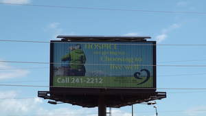 syndicated solar, solar powered billboard