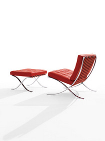 Barcelona Chair and Ottoman from Knoll. On Sale Sept. 24-Oct.3 at YLiving.