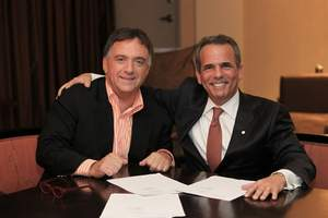 Eric Danziger, Wyndham Hotel Group, and Robert Earl, Planet Hollywood
