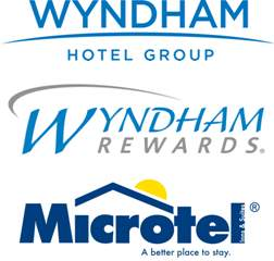The New Wyndham Hotel Group, Wyndham Rewards and Microtel Inns & Suites Logos
