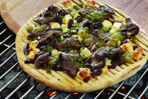 Grilled Steak Pizza