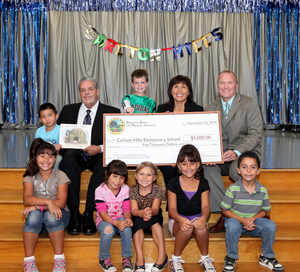 The Barona Band of Mission Indians awarded Carlton Hills Elementary School in Santee with a $5,000 Barona Education Grant, bringing the total amount donated to $1 million to schools statewide.