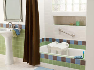 The new Tub and Shower Seat from Home Care by Moen provides an extra level of safety and comfort in the shower with no assembly required.