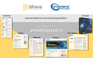 Bhava Communications integrated PR and marketing activities for Overland Storage corporate turnaround re-branding and re-positioning campaign