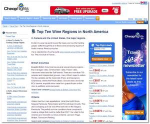 Cheapflights.ca Top 10 Wine Regions in North America