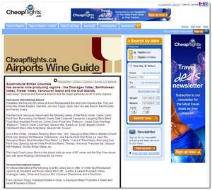 Cheapflights.ca's Airports Wine Guide