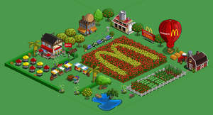 McDonald's branded Farm on FarmVille