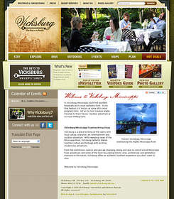Visit the new Vicksburg tourism website for information on events, hot deals and more.