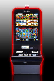''Michael Godard's Rockin' Olives'' is the first game in Aristocrat's new VERVE hd cabinet.