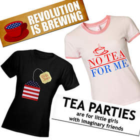 Tea Party, t-shirt, bumper sticker, cafepress