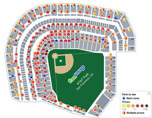 MLB NLCS Phillies @ San Francisco Giants tickets - AT&T Park | FanSnap - Ticket comparison shopping
