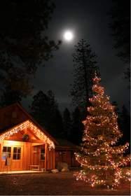 Christmas at Evergreen Lodge at Yosemite
