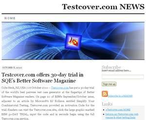 Visit Testcover.com NEWS